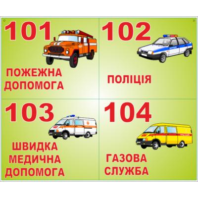 Стенд Екстрені телефони (21203.3)