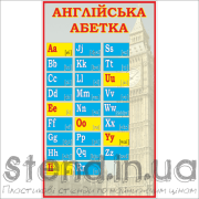 Стенд Англійська абетка (270306)