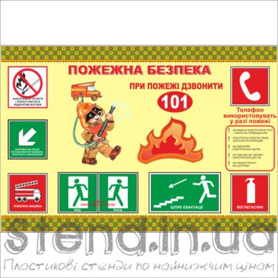 Стенд Пожежна безпека (23201)