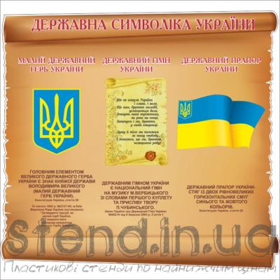 Стенд Державна символіка України (270620)