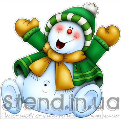 Декорація до Нового Року на підставці Сніговик (22518)