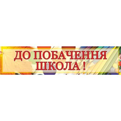 Банер До побачення школа! (271102.3)