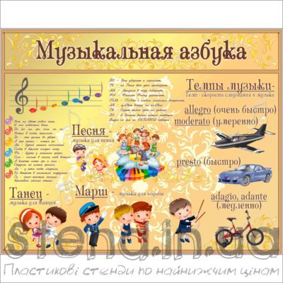 Стенд Музична абетка (270312.3)