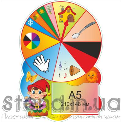 Стенд Універсальний для роботи з дітьми з полями (22330.1)