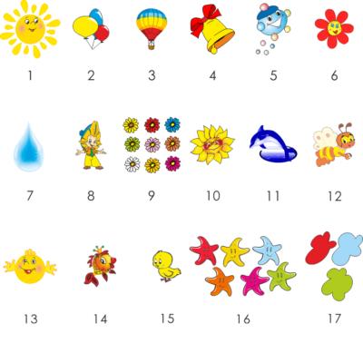 Кліпси для малюнків (21907)