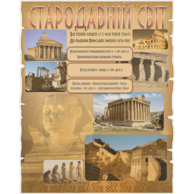 Стенд Стародавній Світ (270308.4)