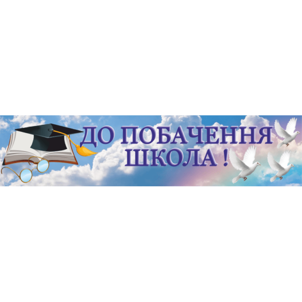 Банер До побачення школа! (271102.2)