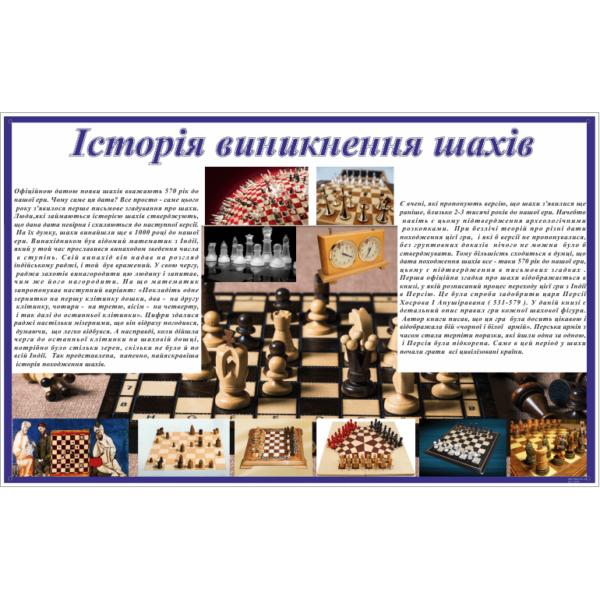 Стенд Історія виникнення шахів (271701)