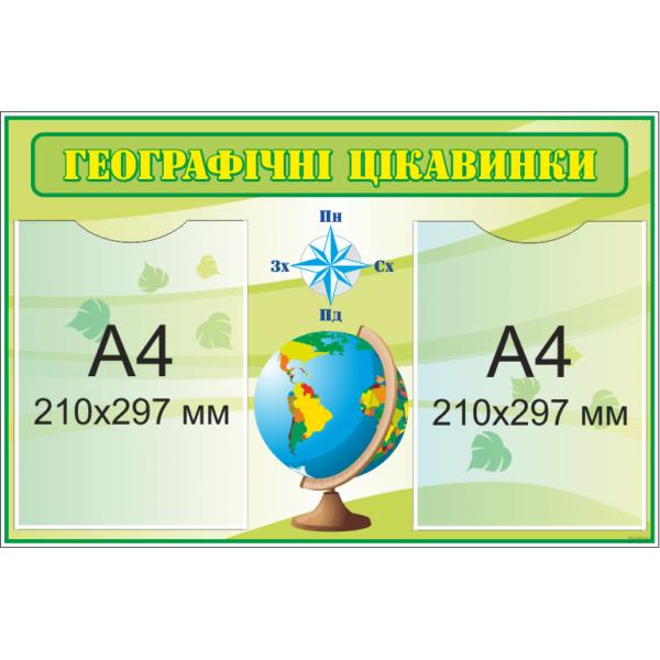 Стенд Географічні цікавинки (270302.12)