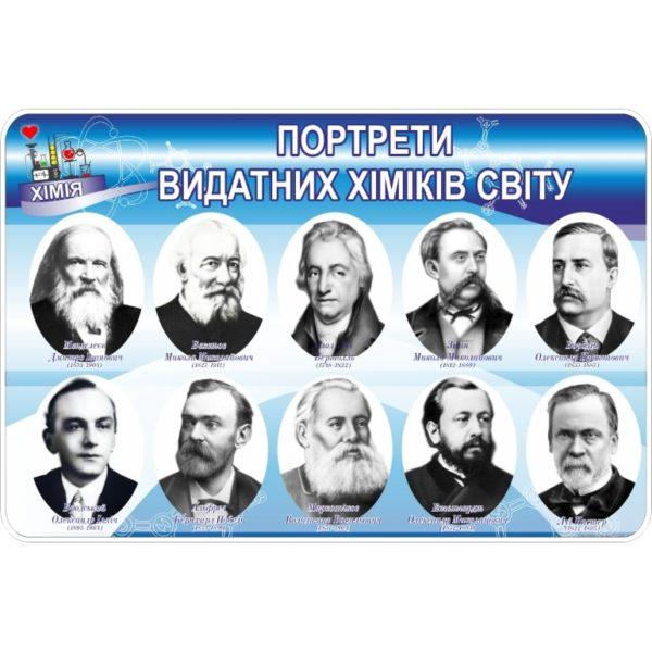 Стенд Портрети видатних хіміків світу (270323.17)