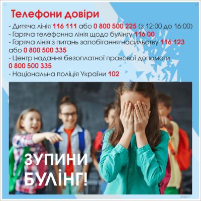 Стенд Телефони довіри (271600.11)