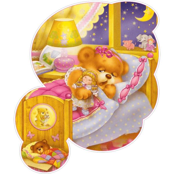 Настінна декорація Ведмедик у ліжечку (2530.4)