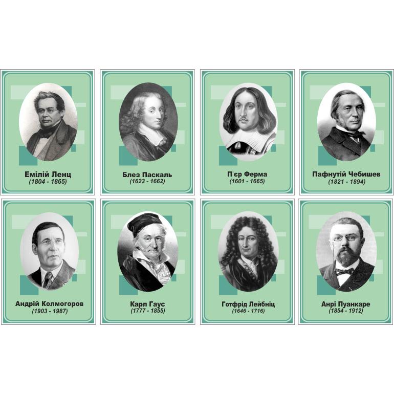 Стенд Портрет видатного математика (270310.54)