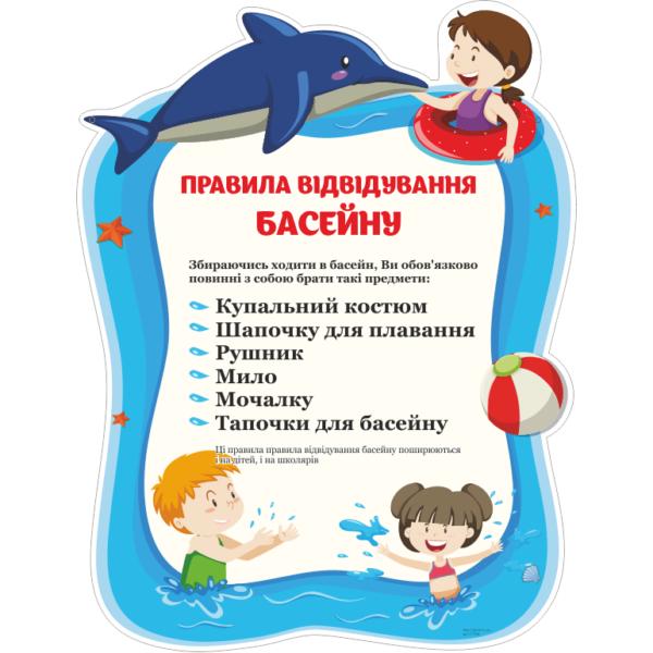 Стенд Правила відвідування басейну (271709)